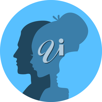 Vector illustration of Family icons head