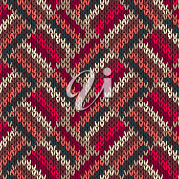 Style Seamless Red Blue Green White Pink Color Knitted Pattern from my large Collection of Samples of knitted Fabrics
