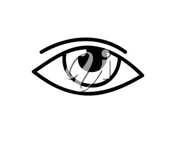 Eye icon. Abstract black and white vector illustration.
