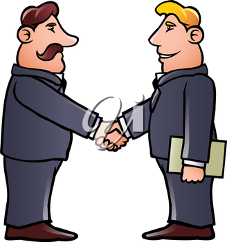 Royalty Free Clipart Image of People Shaking Hands