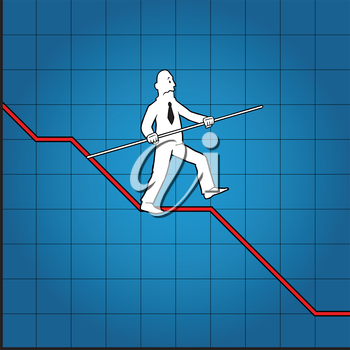 Royalty Free Clipart Image of a Graph Concept