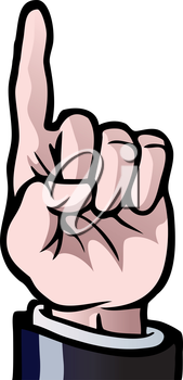Royalty Free Clipart Image of Pointing