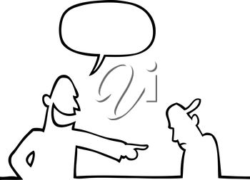 Black line art illustration of a kid bullying a younger kid.