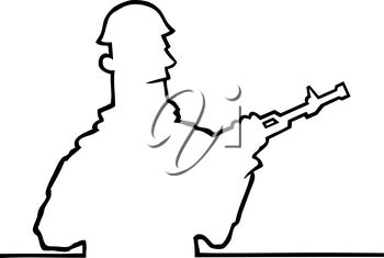 Royalty Free Clipart Image of a Solider