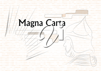Magna Carta. abstract modern illustration of antic law