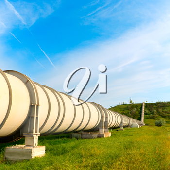 high pressure pipeline for gas transporting .
