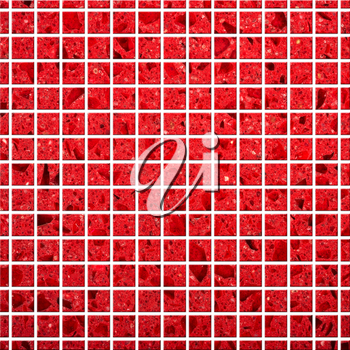 Illustration of red Tile mosaic background for design