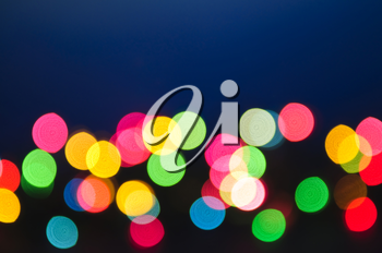 Out of focus multicolored Christmas light background