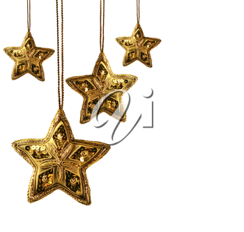 Royalty Free Photo of Hanging Gold Stars