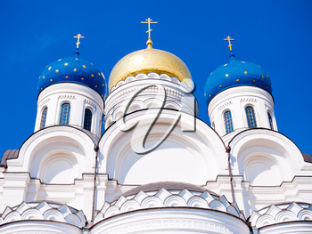 Transfiguration Cathedral in Nicolo-Ugreshsky monastery near Moscow, Russia, East Europe