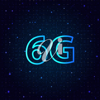 The new generation of high-speed mobile technology for connecting Internet 6G. Vector illustration .