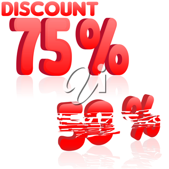 Discount text with numbers