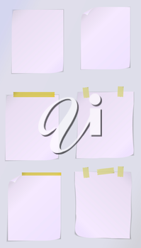 Vector white page paper with scotch