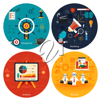 Icons for marketing, management, analytics and business tools
