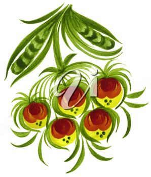 Royalty Free Clipart Image of a Decorative Floral Design