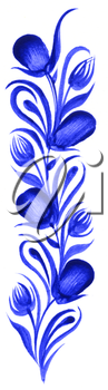 Royalty Free Clipart Image of a Decorative Plant