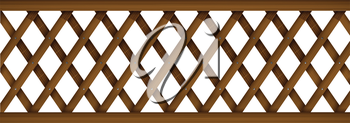Illustration of a wooden barricade on a white background