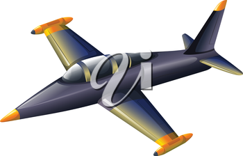Illustration of a fighter jetplane on a white background
