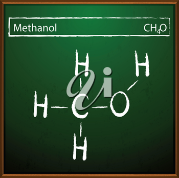 An image showing the methanol formula