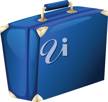 Illustration of a blue suitcase on a white background