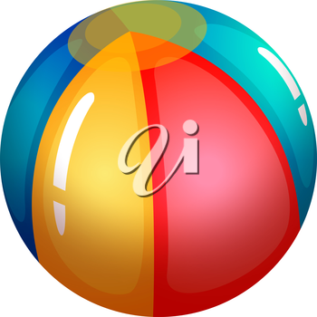 Illustration of an inflatable beach ball on a white background