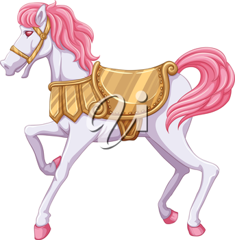 lllustration of a horse ride on a white background