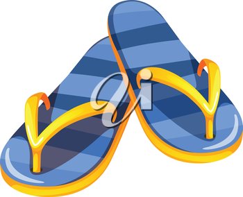 Illustration of a pair of blue sandals on a white background