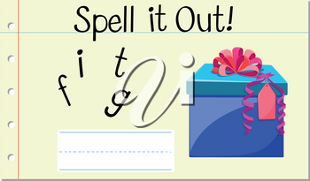 Spell it out gift illustration