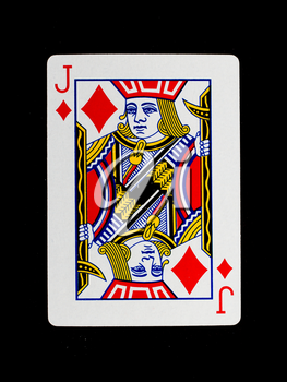 Playing card (jack) isolated on a black background
