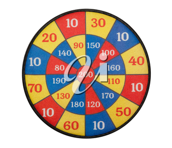 Children's target board, isolated on a white background