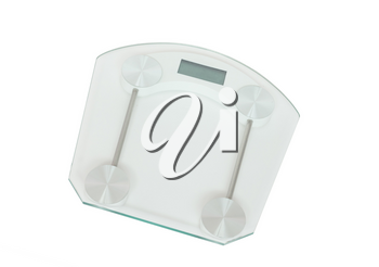 Weight scale isolated on a white background