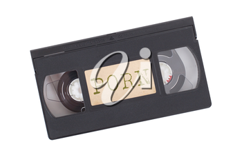 Retro videotape isolated on a white background - Porn