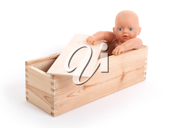 Baby toy (no trademark), isolated on white
