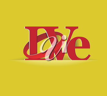 Royalty Free Clipart Image of the Word Love