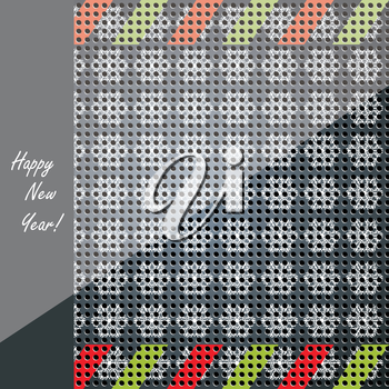 Vector Christmas technology background