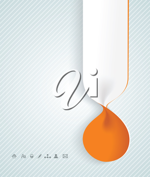Blank magazine or book with tab from spiral banners. Vector illustration.
