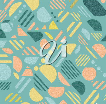 Vintage geometric  pattern in retro 80s style, memphis. Can be use for paper, fabric and textile print.