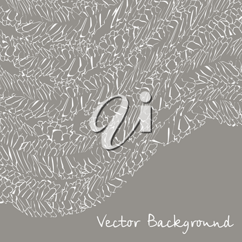 Vector background withpattern with abstract feathers illusion.