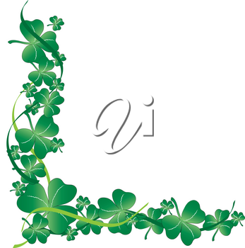 Clip Art Illustration of a Clover Design