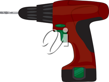 Royalty Free Clipart Illustration of an Electric Drill