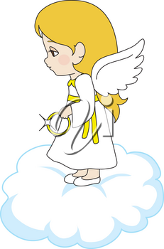 Royalty Free Clipart Illustration of a Little Angel