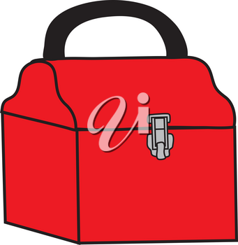Clipart Illustration of a Red Tool Box