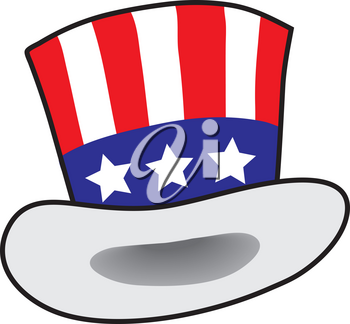 Clipart Illustration of an Uncle Sam Hat