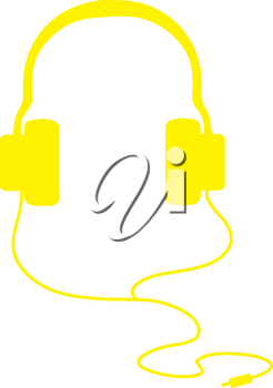 Clipart Illustration of Headphones