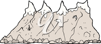 Royalty Free Clipart Image of a Mountain Range