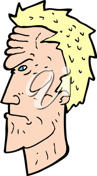 Royalty Free Clipart Image of an Angry Face