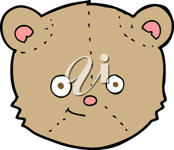 Royalty Free Clipart Image of a Teddy Bear Head