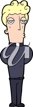 Royalty Free Clipart Image of a Priest