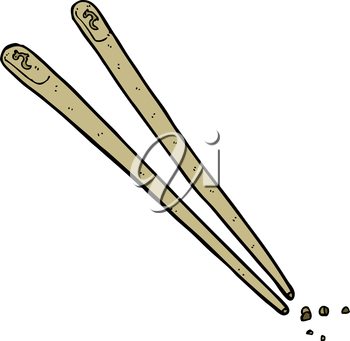 Royalty Free Clipart Image of Chopsticks