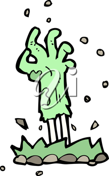 Royalty Free Clipart Image of a Zombie Arm